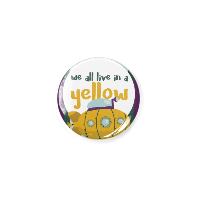 Yellow Submarine Accessories Button by BrocoliArtprint