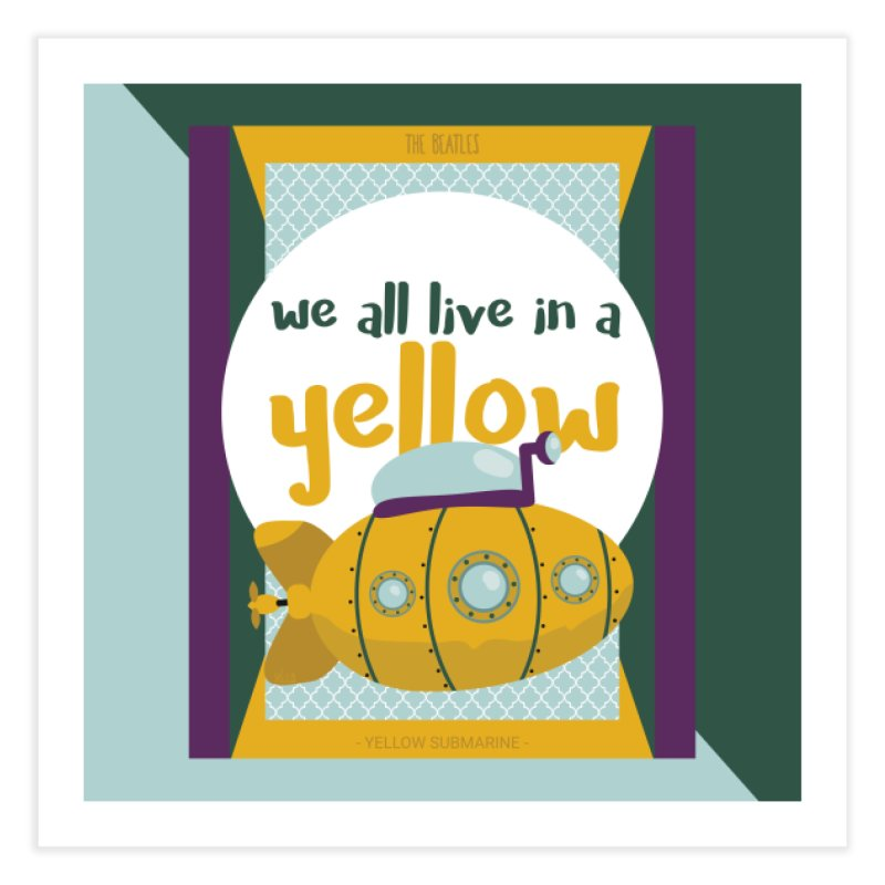 Yellow Submarine Home Fine Art Print by BrocoliArtprint