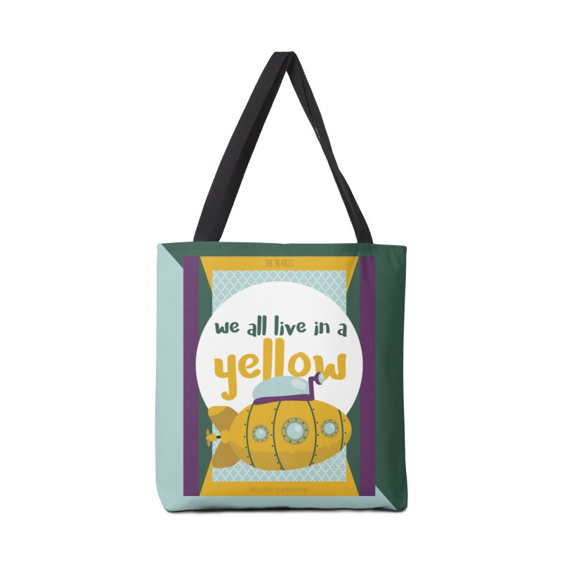 Yellow Submarine Accessories Bag by BrocoliArtprint