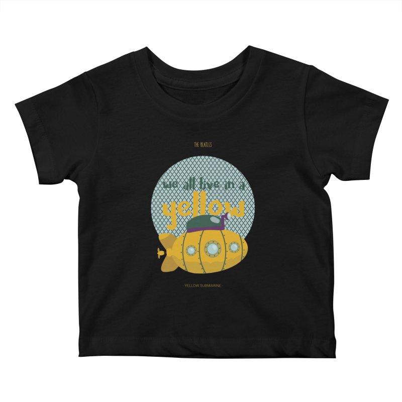Yellow Submarine Kids Baby T-Shirt by BrocoliArtprint