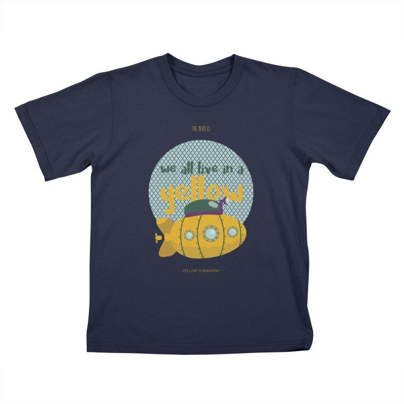 Yellow Submarine Kids T-Shirt by BrocoliArtprint