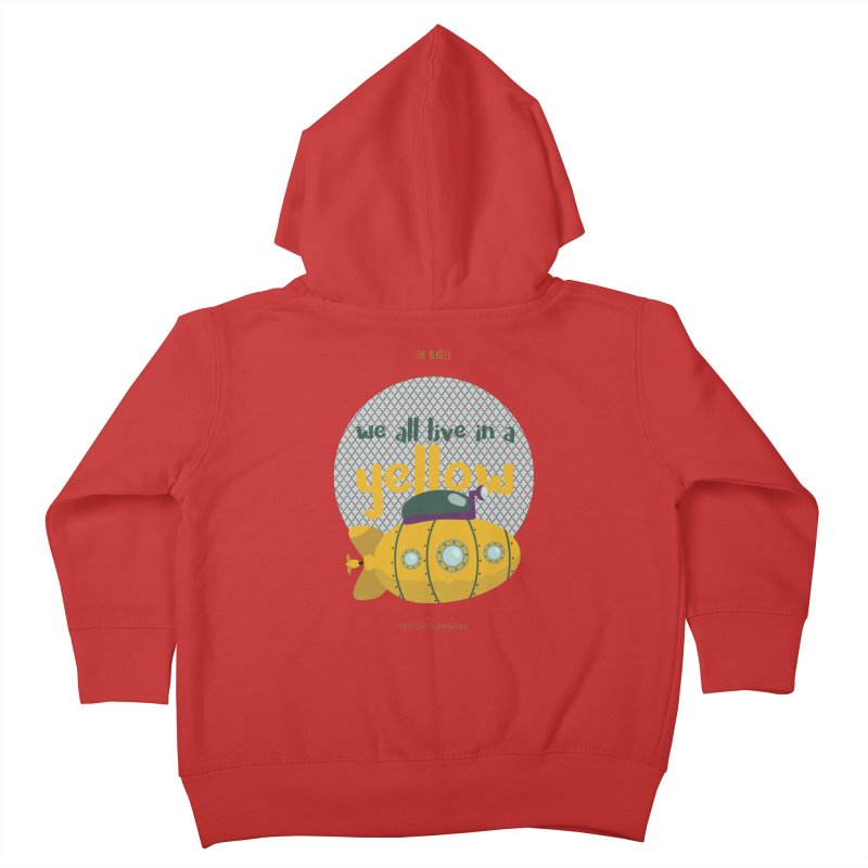 Yellow Submarine Kids Toddler Zip-Up Hoody by BrocoliArtprint
