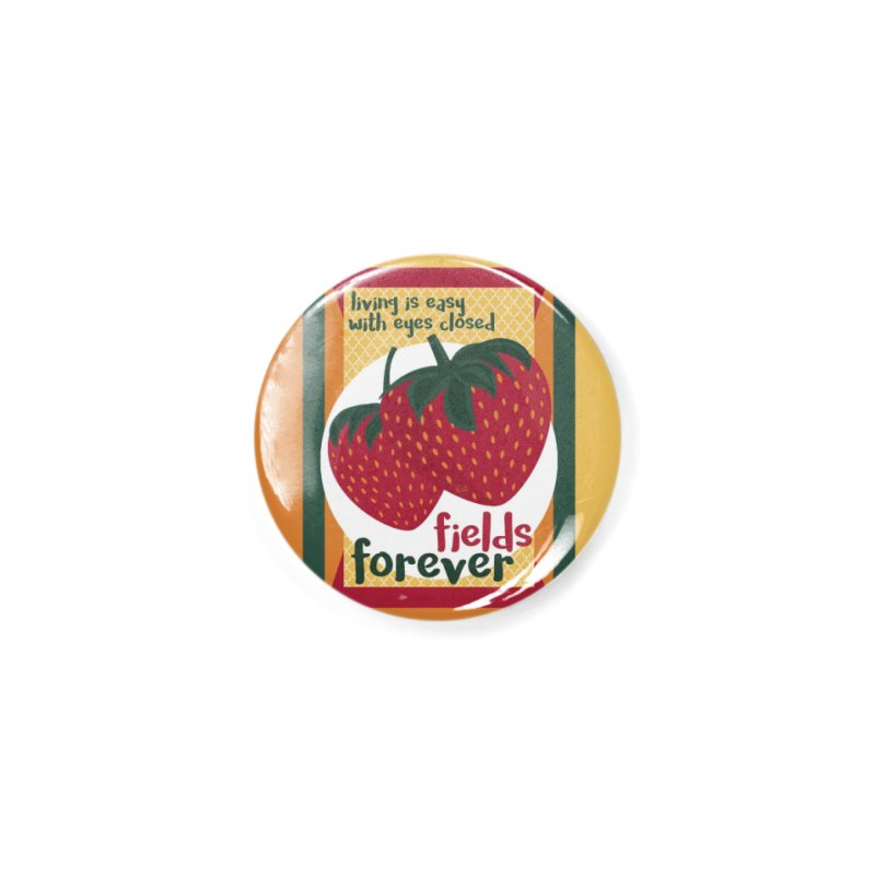 Strawberry Fields Accessories Button by BrocoliArtprint