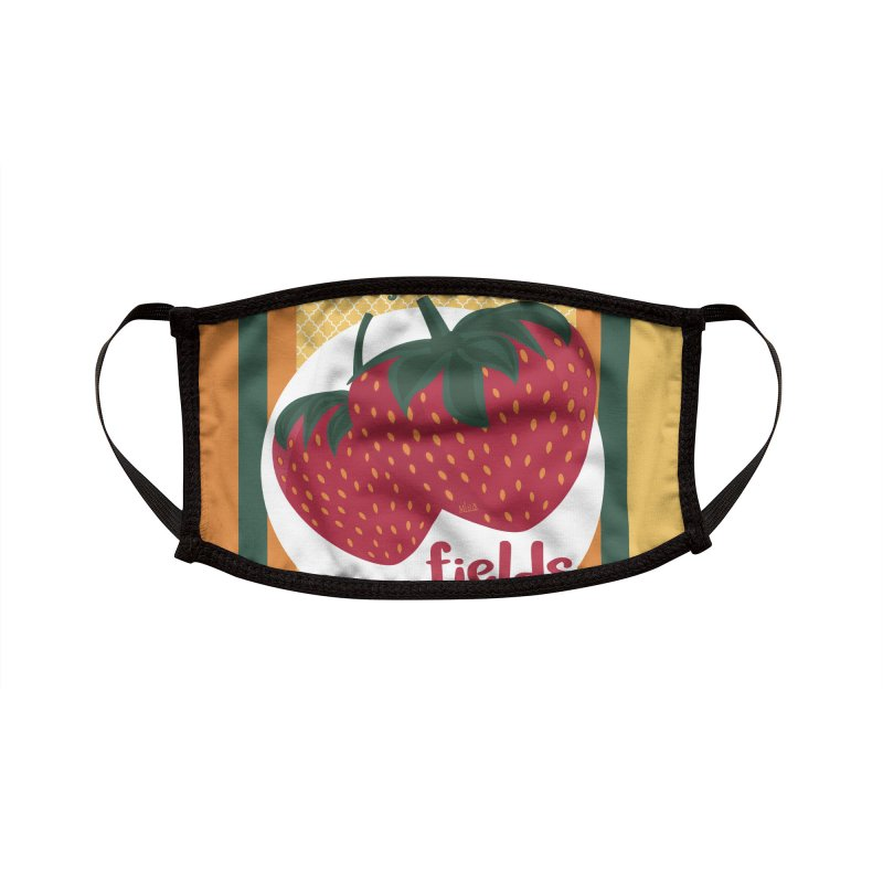 Strawberry Fields Accessories Face Mask by BrocoliArtprint