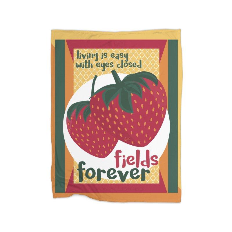 Strawberry Fields Home Blanket by BrocoliArtprint