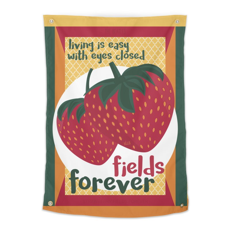 Strawberry Fields Home Tapestry by BrocoliArtprint