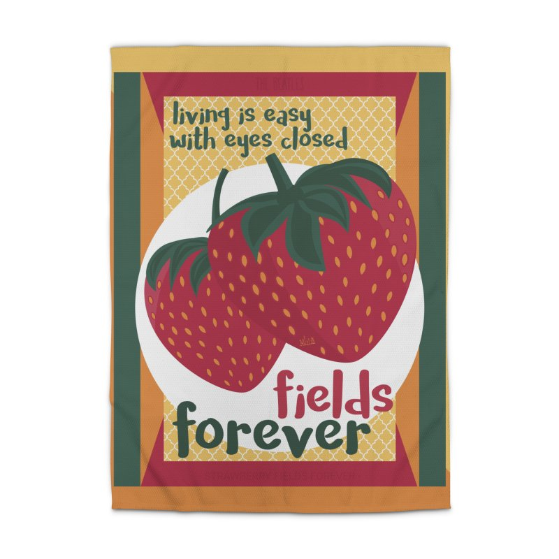 Strawberry Fields Home Rug by BrocoliArtprint