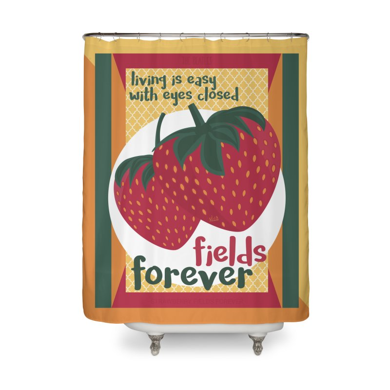 Strawberry Fields Home Shower Curtain by BrocoliArtprint