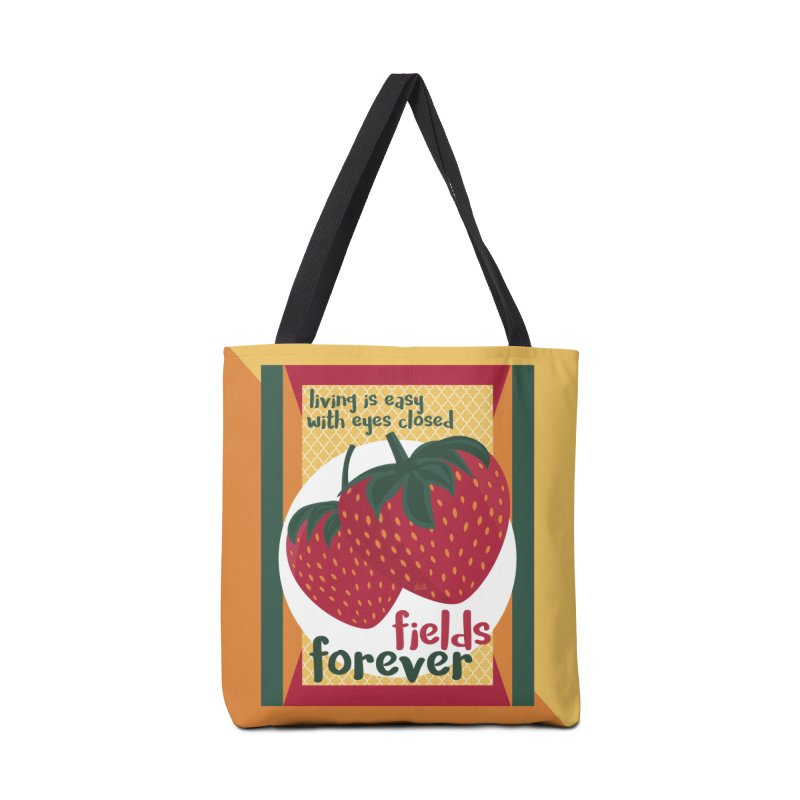 Strawberry Fields Accessories Bag by BrocoliArtprint