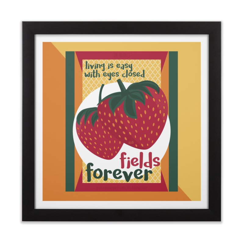 Strawberry Fields Home Framed Fine Art Print by BrocoliArtprint