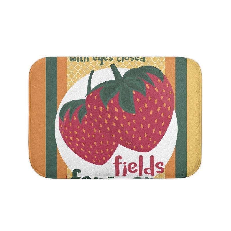 Strawberry Fields Home Bath Mat by BrocoliArtprint