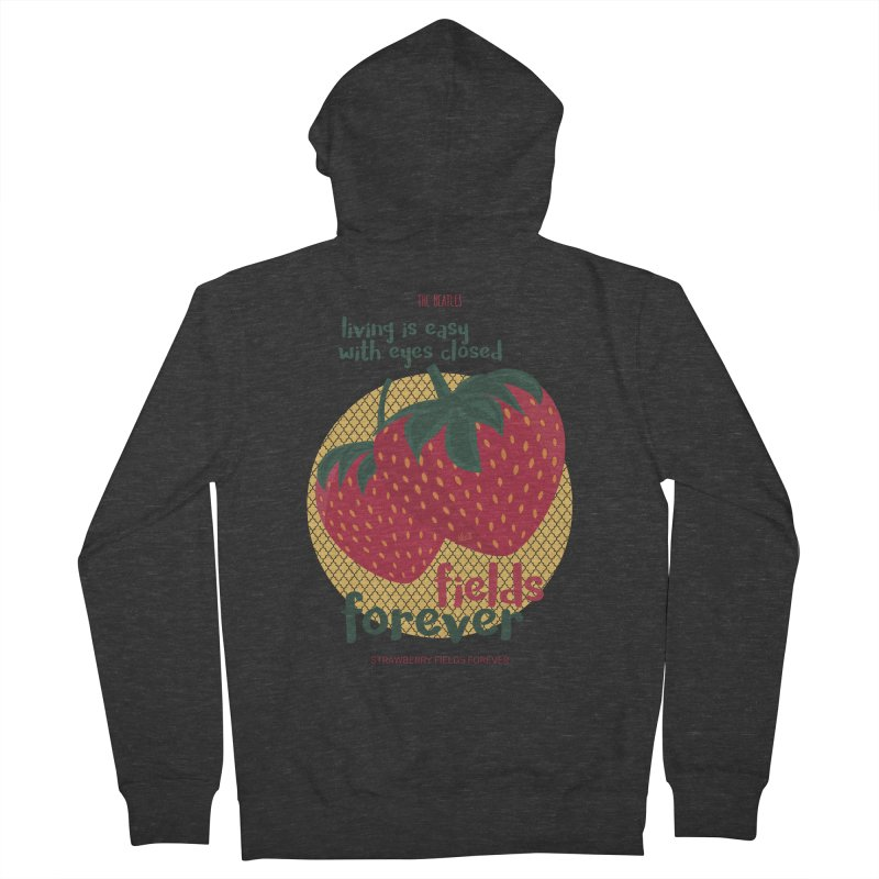 Strawberry Fields Women's Zip-Up Hoody by BrocoliArtprint