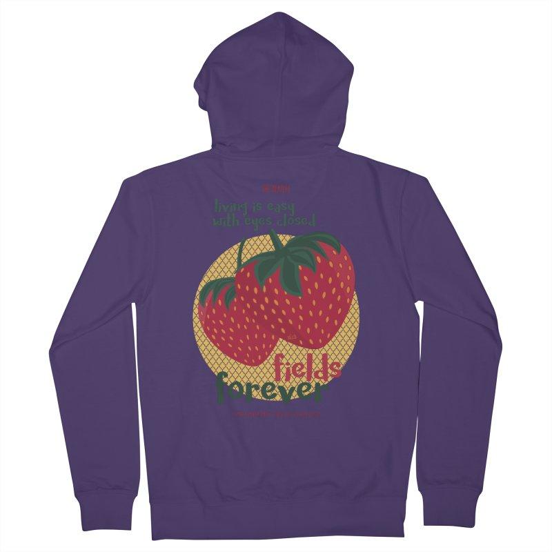 Strawberry Fields Women's Zip-Up Hoody by BrocoliArtprint