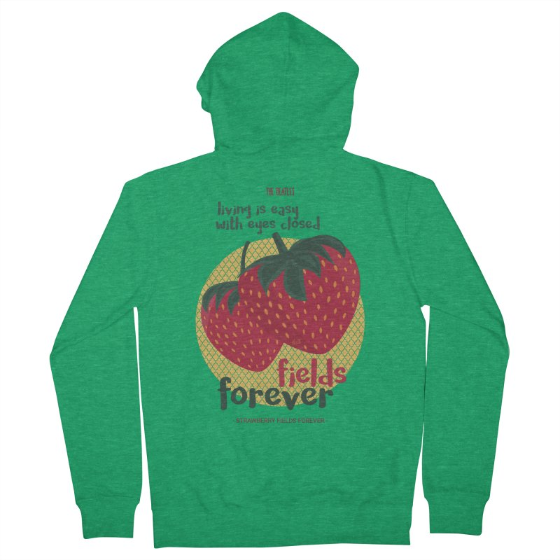 Strawberry Fields Men's Zip-Up Hoody by BrocoliArtprint