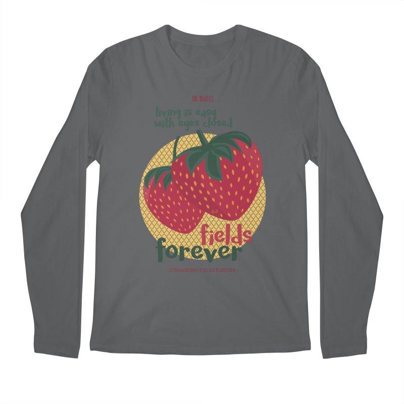 Strawberry Fields Men's Longsleeve T-Shirt by BrocoliArtprint