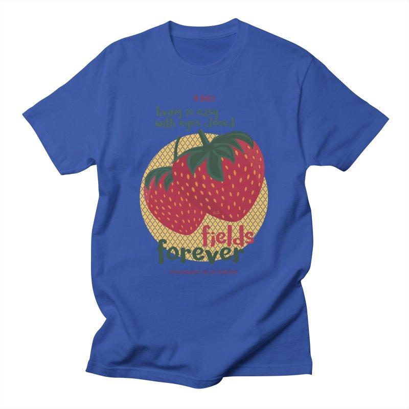 Strawberry Fields Men's T-Shirt by BrocoliArtprint