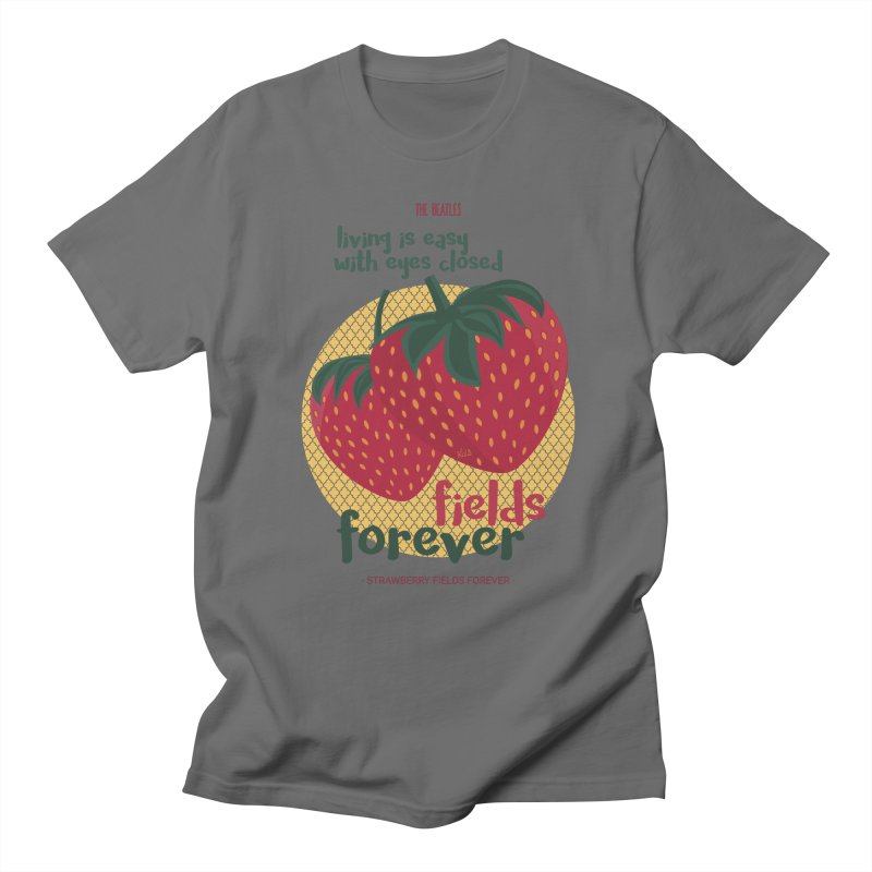 Strawberry Fields Men's T-Shirt by BrocoliArtprint