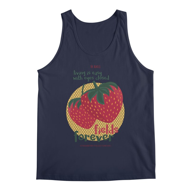 Strawberry Fields Men's Tank by BrocoliArtprint