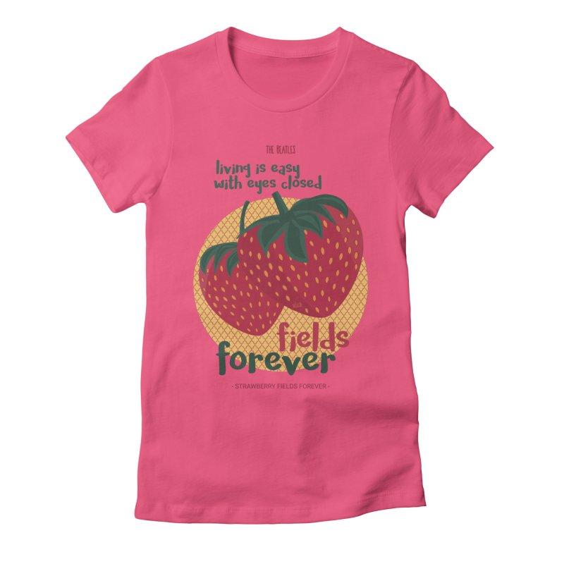 Strawberry Fields Women's T-Shirt by BrocoliArtprint