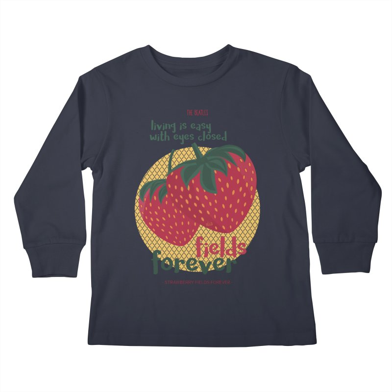 Strawberry Fields Kids Longsleeve T-Shirt by BrocoliArtprint