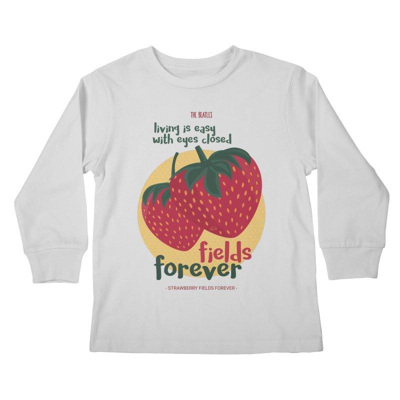 Strawberry Fields Kids Longsleeve T-Shirt by BrocoliArtprint
