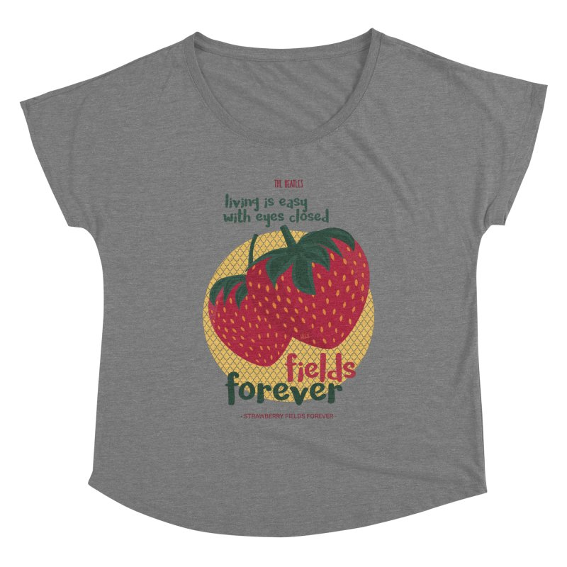 Strawberry Fields Women's Scoop Neck by BrocoliArtprint
