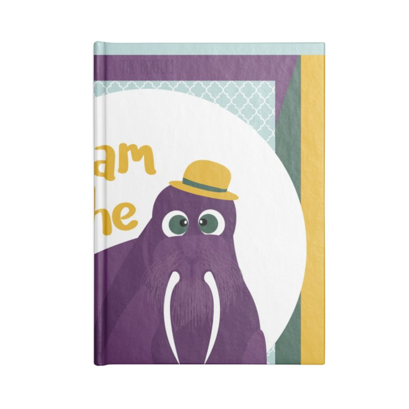 I am the Walrus Accessories Notebook by BrocoliArtprint