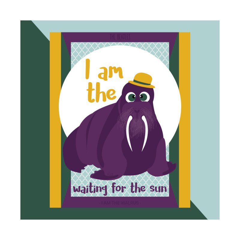 I am the Walrus Home Throw Pillow by BrocoliArtprint