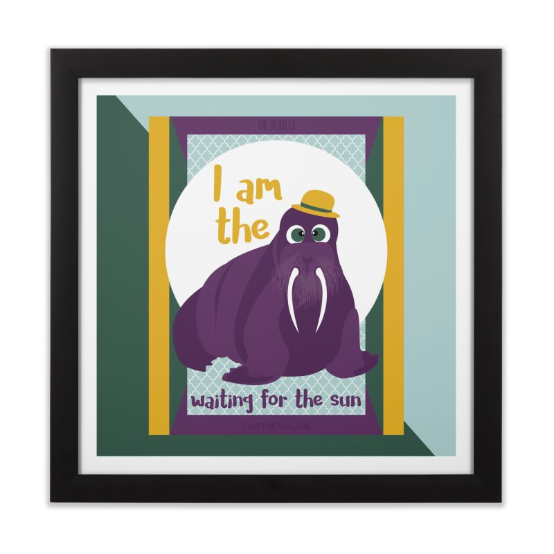 I am the Walrus Home Framed Fine Art Print by BrocoliArtprint