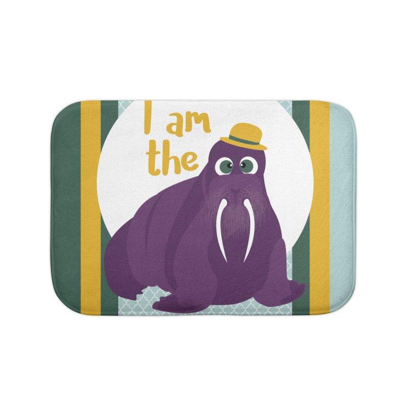 I am the Walrus Home Bath Mat by BrocoliArtprint