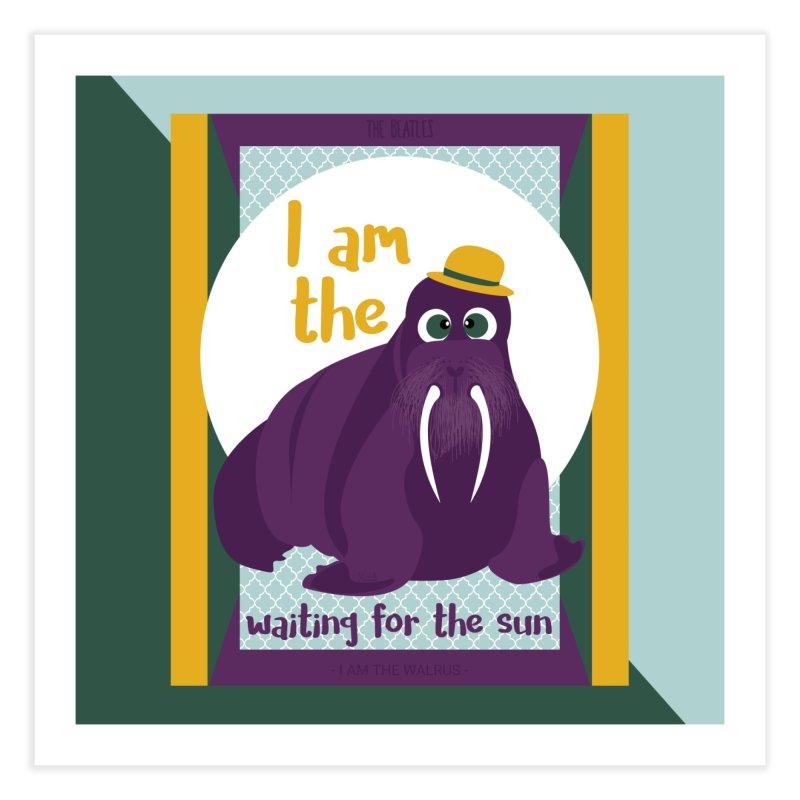 I am the Walrus Home Fine Art Print by BrocoliArtprint