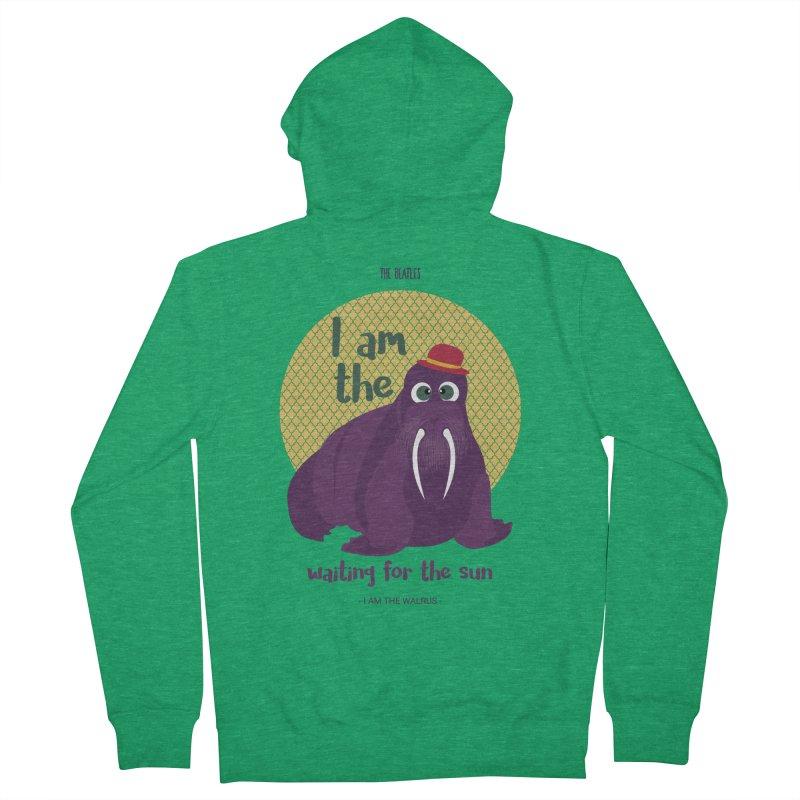 I am the Walrus Men's Zip-Up Hoody by BrocoliArtprint