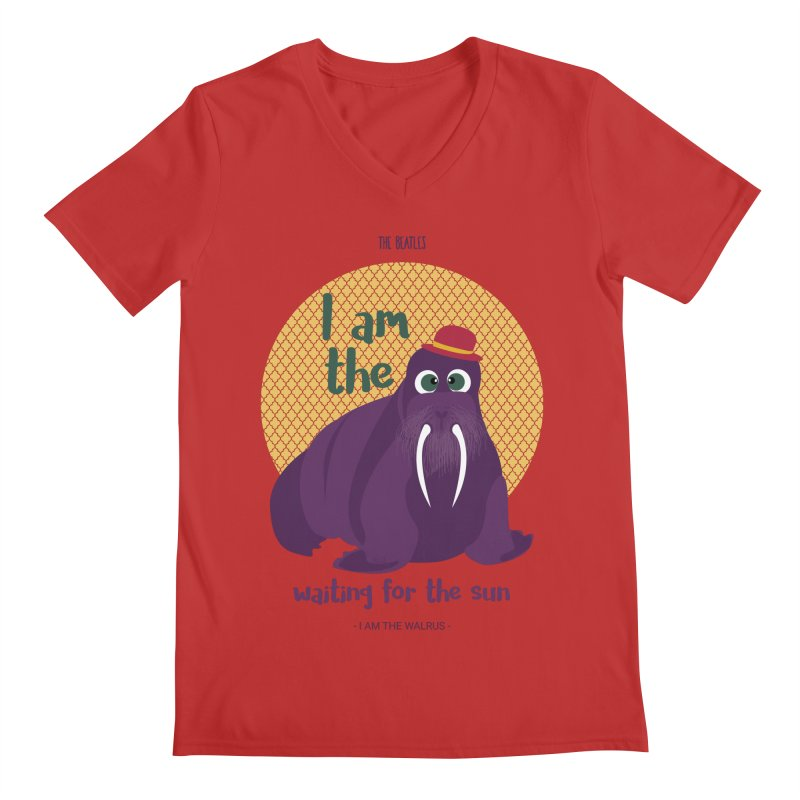 I am the Walrus Men's V-Neck by BrocoliArtprint