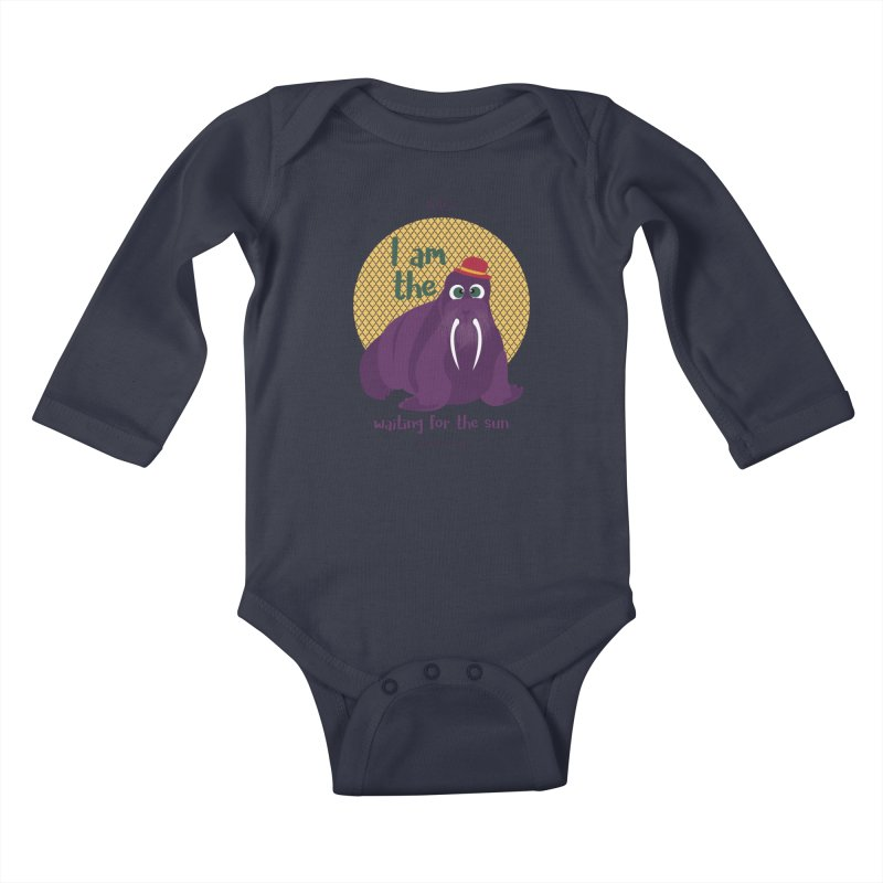 I am the Walrus Kids Baby Longsleeve Bodysuit by BrocoliArtprint