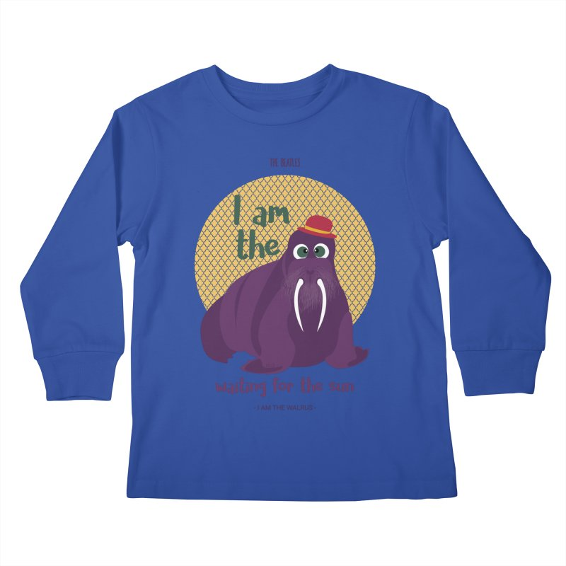 I am the Walrus Kids Longsleeve T-Shirt by BrocoliArtprint