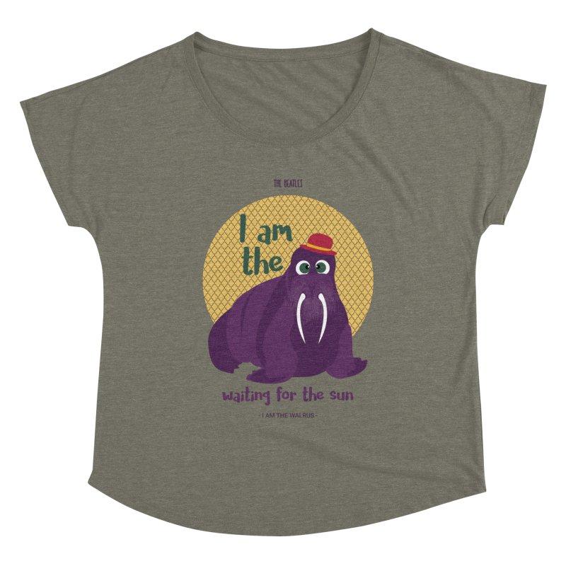 I am the Walrus Women's Scoop Neck by BrocoliArtprint