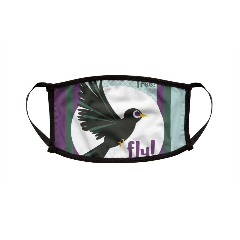 BlackBird Accessories Face Mask by BrocoliArtprint