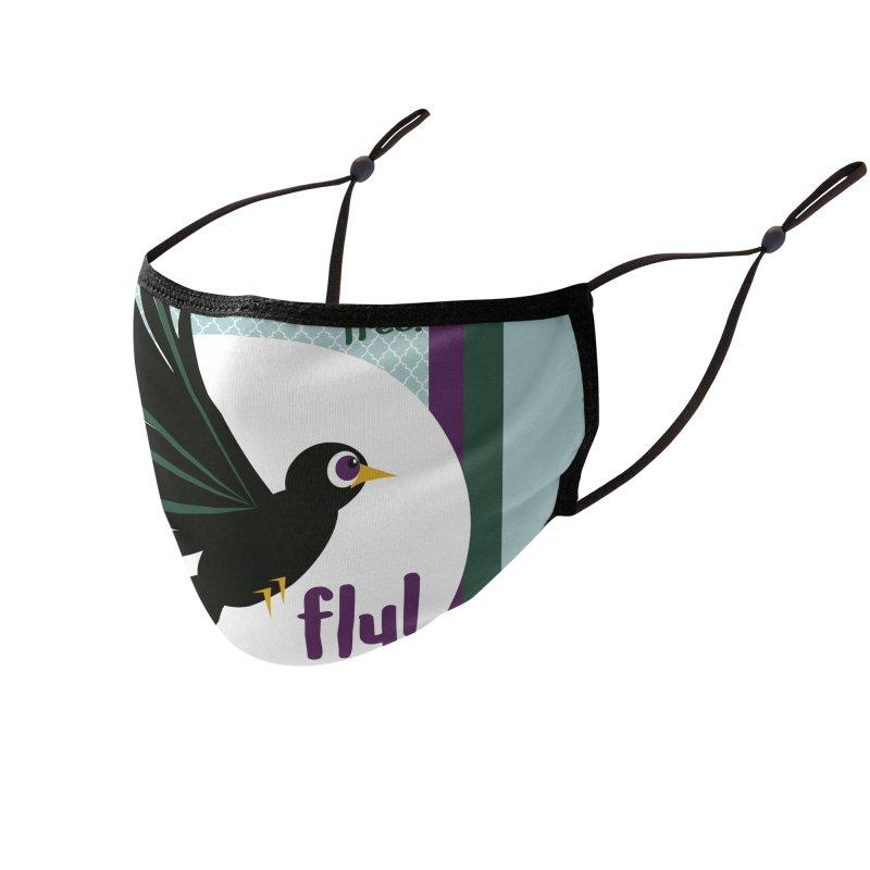 BlackBird Accessories Face Mask by BrocoliArtprint