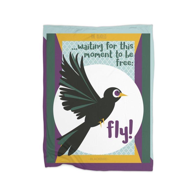 BlackBird Home Blanket by BrocoliArtprint
