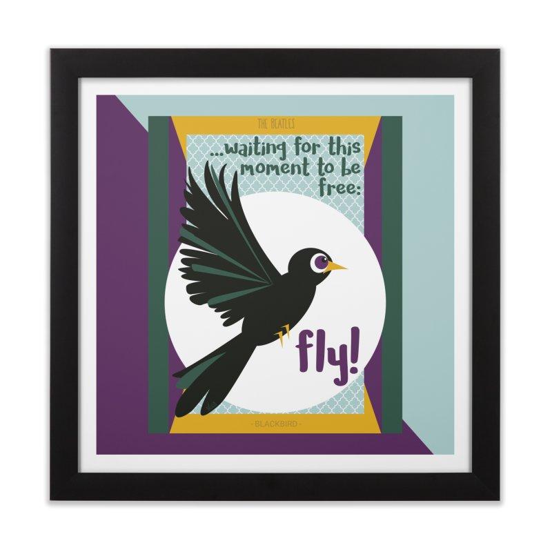 BlackBird Home Framed Fine Art Print by BrocoliArtprint