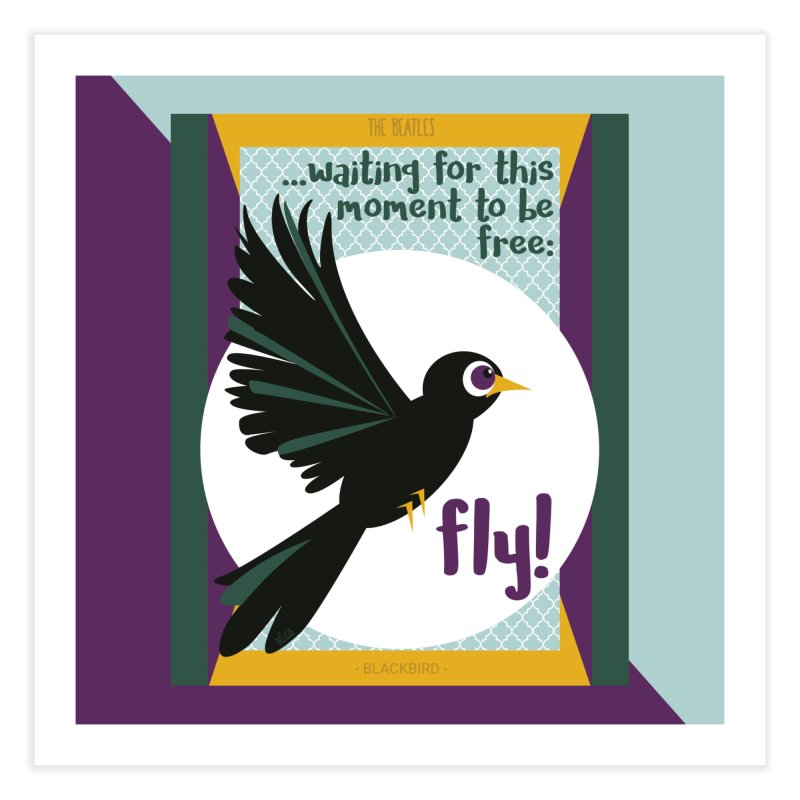 BlackBird Home Fine Art Print by BrocoliArtprint