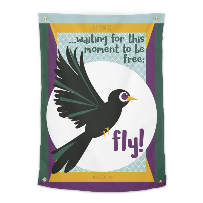 BlackBird Home Tapestry by BrocoliArtprint