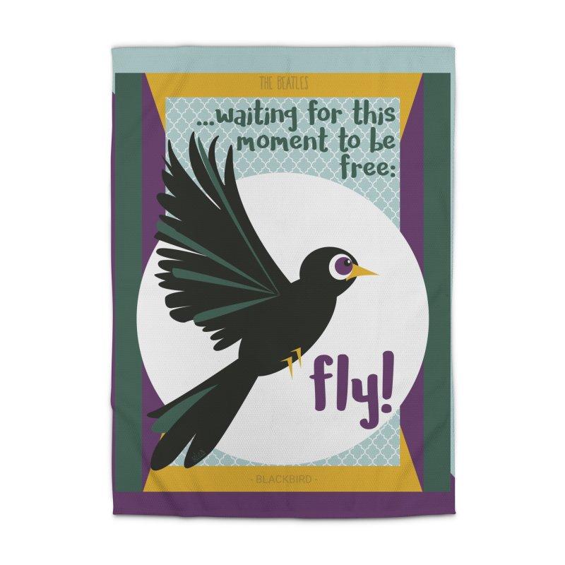 BlackBird Home Rug by BrocoliArtprint