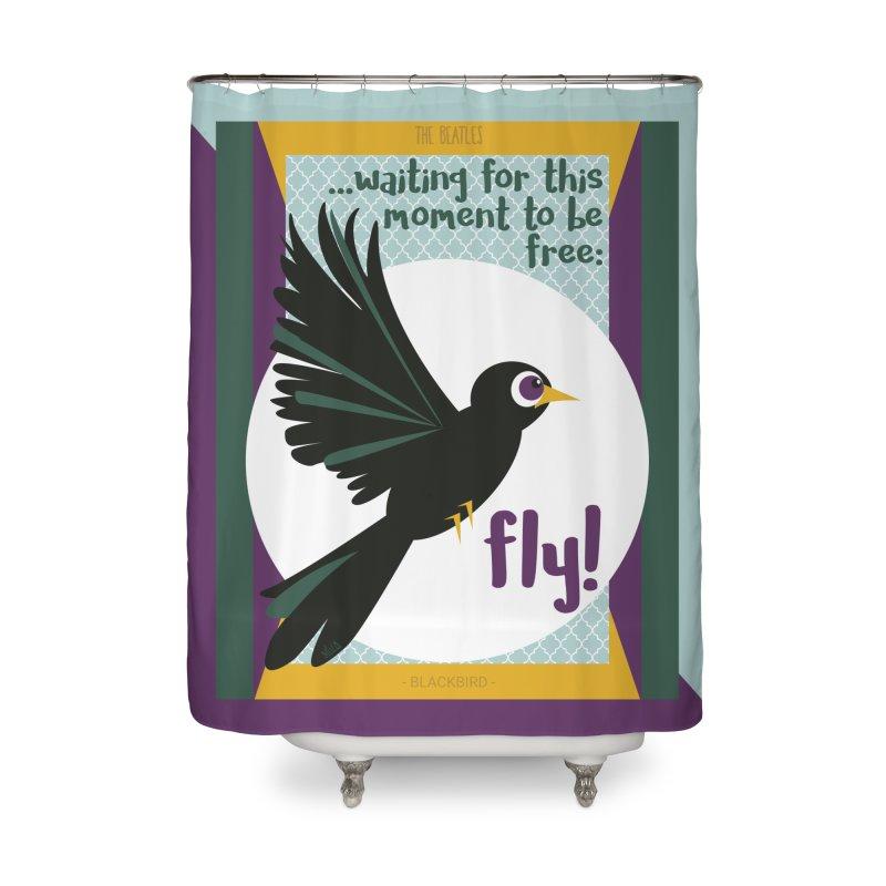 BlackBird Home Shower Curtain by BrocoliArtprint