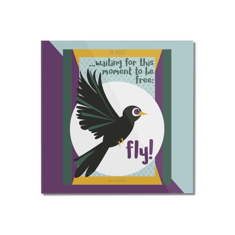 BlackBird Home Mounted Acrylic Print by BrocoliArtprint
