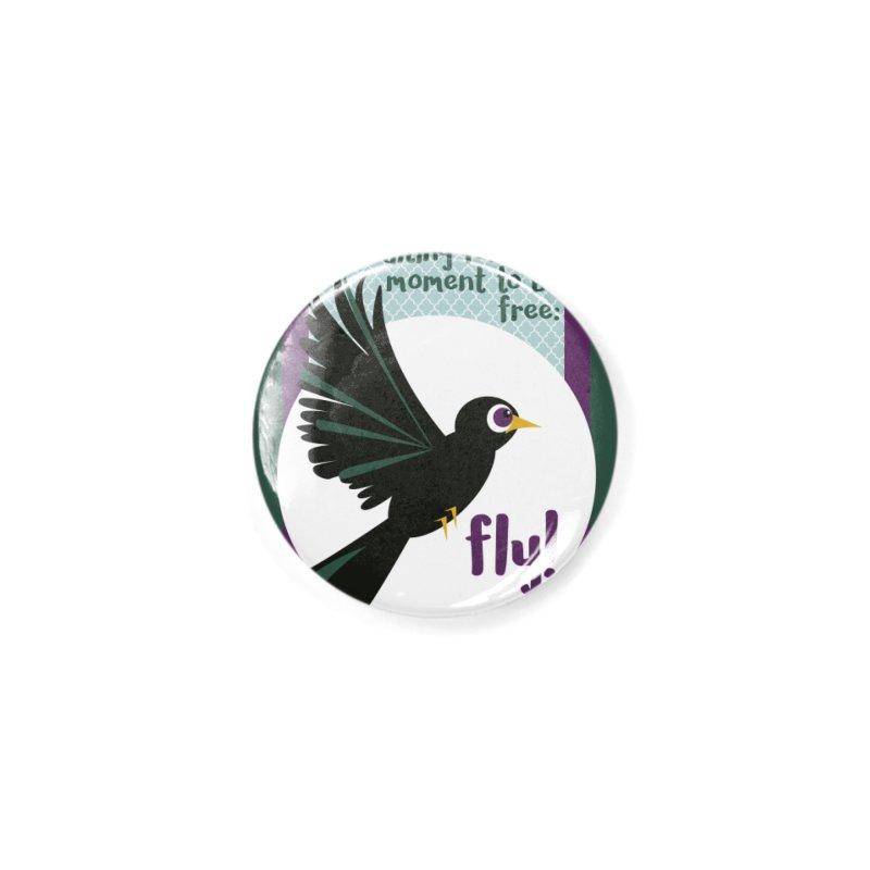 BlackBird Accessories Button by BrocoliArtprint