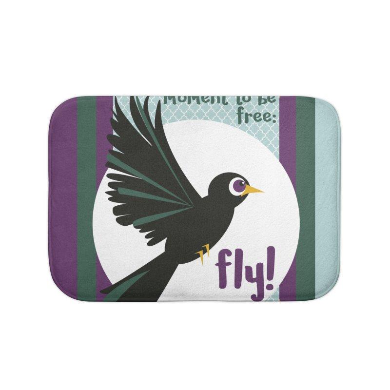 BlackBird Home Bath Mat by BrocoliArtprint