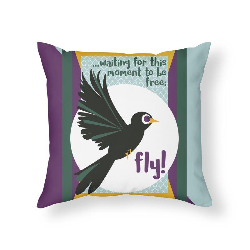 BlackBird Home Throw Pillow by BrocoliArtprint