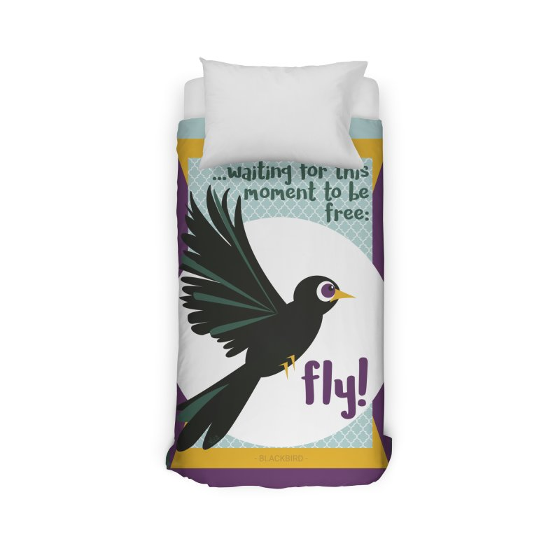BlackBird Home Duvet by BrocoliArtprint