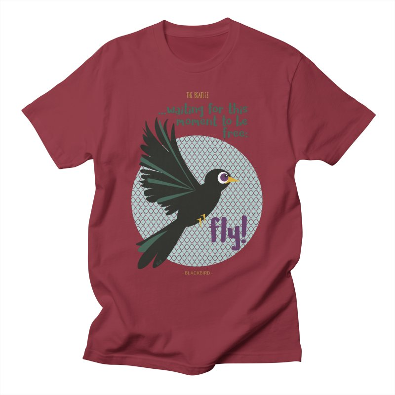 BlackBird Men's T-Shirt by BrocoliArtprint
